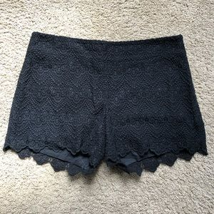 Black, crochet shorts